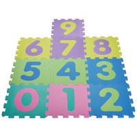 PĚNOVÉ PUZZLE - Multicolor, Basics, umělá hmota (30/1/30cm) - My Baby Lou