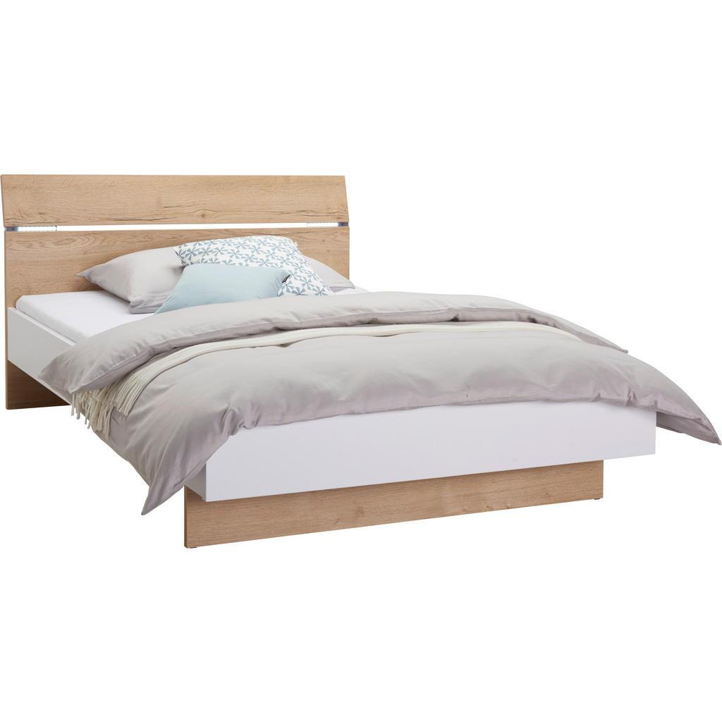 Hom`in Bett 140/200 cm in weiss