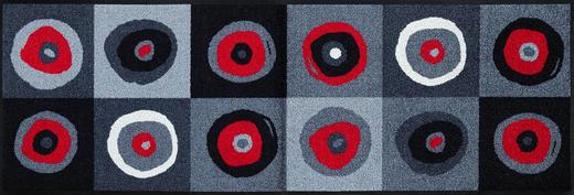 FUßMATTE 60/180 cm Graphik Grau, Rot, Schwarz - Rot/Schwarz, Basics, Kunststoff/Textil (60/180cm) - Esposa