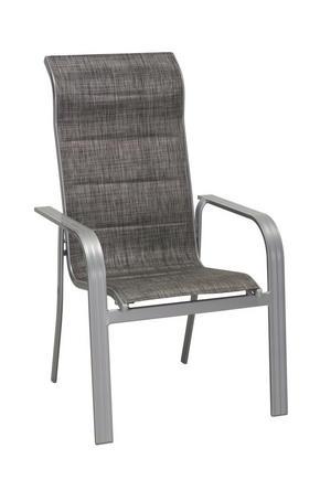 STAPELBAR STOL - silver/grå, Design, metall/textil (64/108/74cm) - Ambia Garden