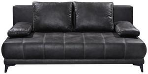 SCHLAFSOFA in Textil Anthrazit  - Anthrazit/Schwarz, KONVENTIONELL, Kunststoff/Textil (203/86/101cm) - Carryhome