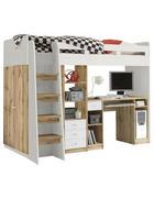POGRAD - bela/hrast, Konvencionalno, leseni material (90/200cm) - Carryhome