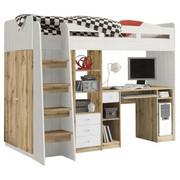 VYSOKÁ POSTEL - bílá/barvy dubu, Konvenční, dřevěný materiál (90/200cm) - Carryhome