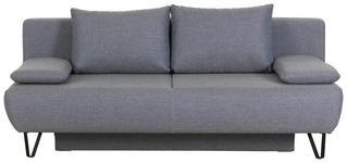 SCHLAFSOFA in Textil Grau  - Schwarz/Grau, MODERN, Textil/Metall (202/90/91cm) - Xora
