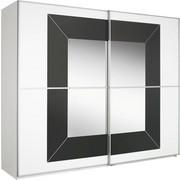 SCHWEBETÜRENSCHRANK in Grau, Weiß - Alufarben/Weiß, Design, Glas/Holzwerkstoff (226/223/69cm) - CANTUS