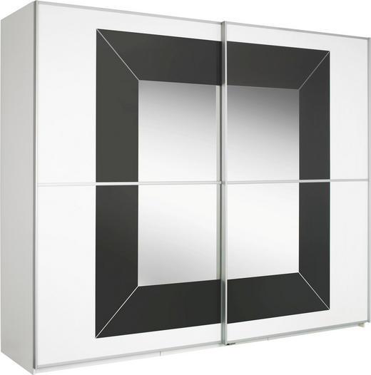 SKJUTDÖRRSGARDEROB - vit/alufärgad, Design, metall/glas (270/223/69cm) - CANTUS