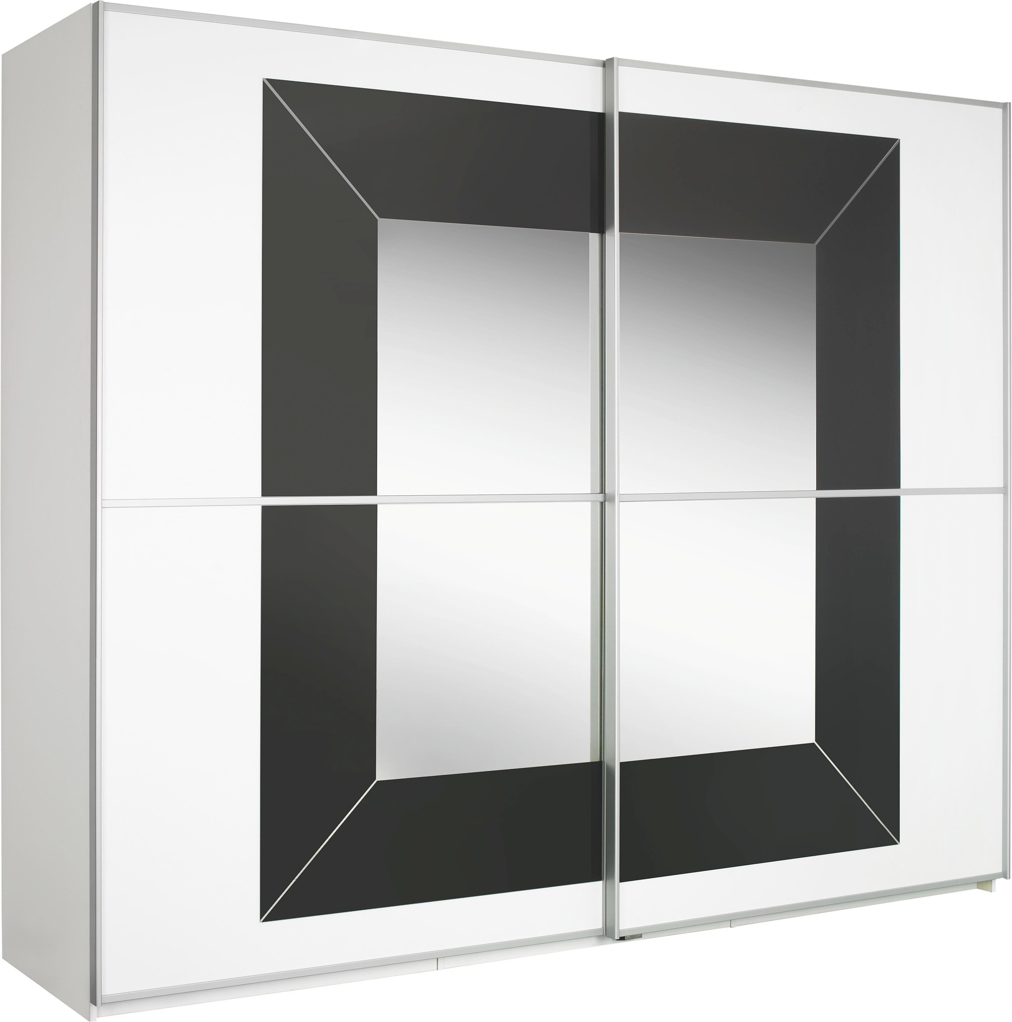 SKŘÍŇ S POSUVNÝMI DVEŘMI - bílá/šedá, Design, kov/dřevěný materiál (270/223/69cm) - CANTUS