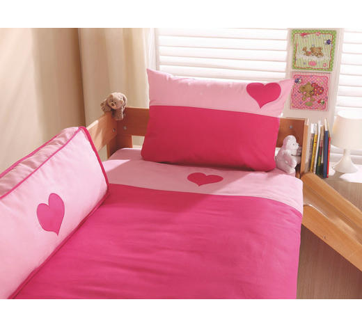KINDERBETTWÄSCHE 80/80 cm - Pink/Rosa, Design, Textil (80/80cm)