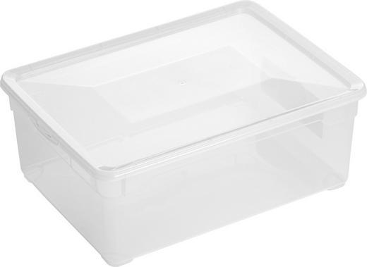 BOX MIT DECKEL - Klar, Basics, Kunststoff (36,5/26,5/14cm)