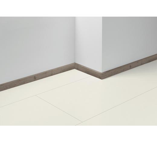 SOCKELLEISTE Grau, Eichefarben - Eichefarben/Grau, Basics, Holzwerkstoff (257/1,6/4cm) - Parador