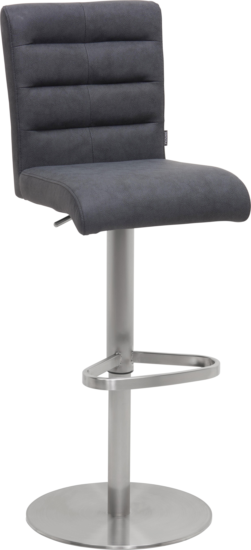 BARPALL - svart/rostfritt stål-färgad, Design, metall/textil (42/88-113/51,5cm) - Novel