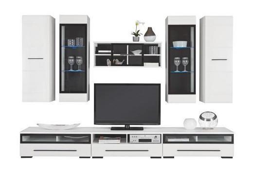 DNEVNI REGAL  bela, črna - črna/bela, Design, umetna masa/steklo (300/200/50cm) - XORA