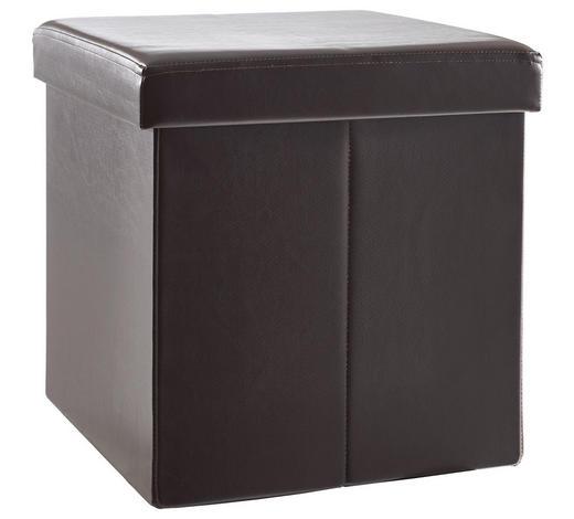 SITZBOX Lederlook, Vliesstoff Dunkelbraun  - Dunkelbraun, Design, Textil (38/38/38cm) - Carryhome
