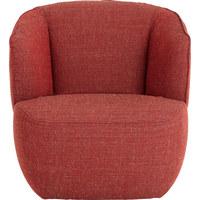 SESSEL in Textil Orange - Schwarz/Orange, Design, Kunststoff/Textil (75/74/82cm) - Rolf Benz