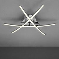 LED-TAKLAMPA - kromfärg, Design, metall - Novel