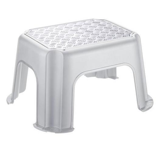 STAPELHOCKER - Silberfarben/Grau, Basics, Kunststoff (43,1/35,8/23,8cm) - Rotho