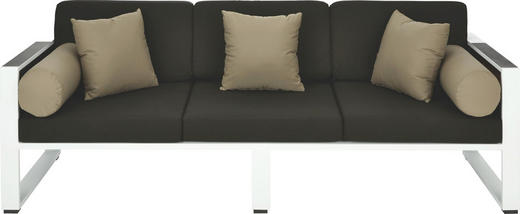 LOUNGE SOFA - bijela/siva, Design, drvo/metal (220/61/81,5cm) - AMBIA GARDEN