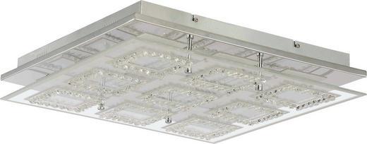 LED-DECKENLEUCHTE - Chromfarben, Design, Glas/Kunststoff (45/45/6,5cm) - Ambiente