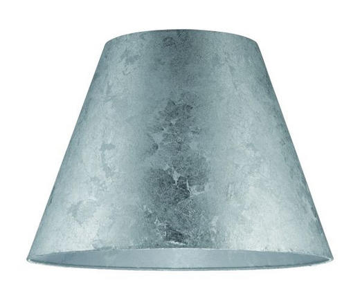 LEUCHTENSCHIRM  Silberfarben, Transparent  Kunststoff, Papier  E27 - Transparent/Silberfarben, Basics, Papier/Kunststoff (40/28cm)
