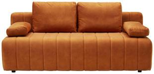 SCHLAFSOFA in Textil Rostfarben  - Rostfarben/Schwarz, KONVENTIONELL, Kunststoff/Textil (198/78-87/92cm) - Xora