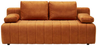 SCHLAFSOFA in Textil Rostfarben  - Rostfarben/Schwarz, MODERN, Kunststoff/Textil (198/87/92cm) - Xora