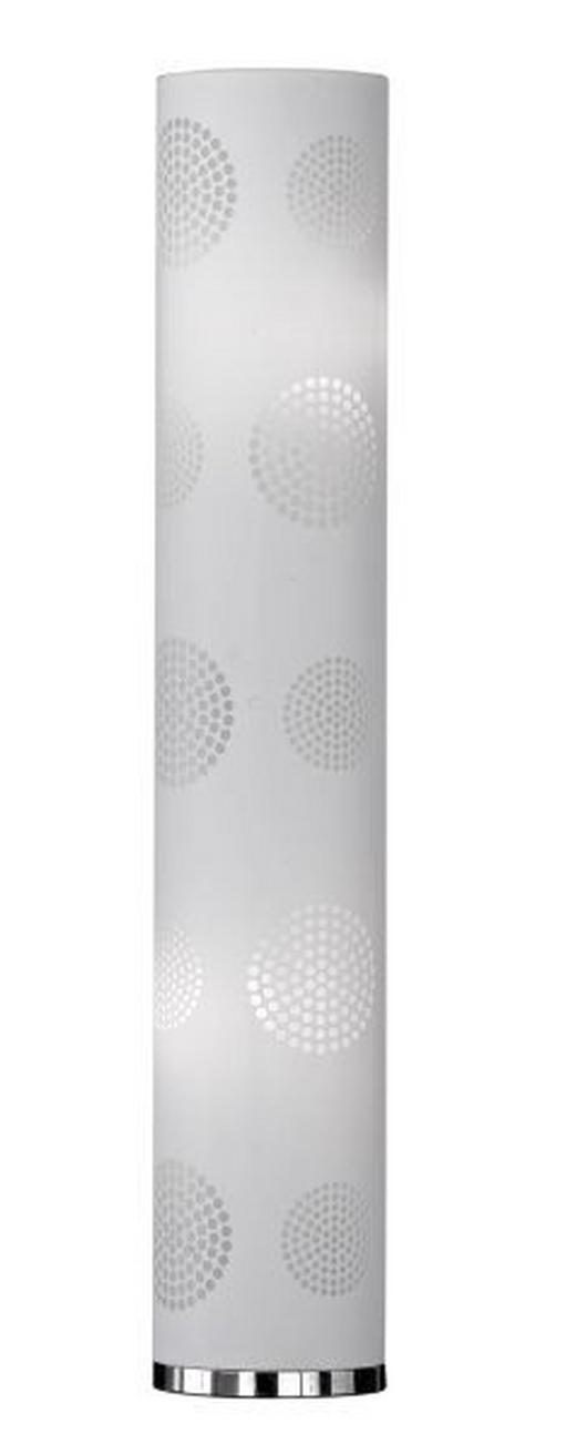STEHLEUCHTE - Weiß, LIFESTYLE, Textil/Metall (25,5/117,5cm)