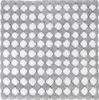 BADTEPPICH in Grau, Silberfarben 60/60 cm - Silberfarben/Grau, Design, Kunststoff/Textil (60/60cm) - Kleine Wolke