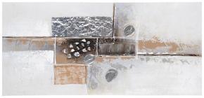 OLJEMÅLNING - brun/silver, Design, metall/trä (120/55/3cm) - Monee