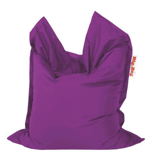SITZSACK in Aubergine Textil - Aubergine, Design, Textil (130/170cm)