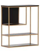 WANDREGAL Akazie massiv Schwarz, Goldfarben  - Goldfarben/Schwarz, Trend, Holz/Metall (70/80/30cm) - Carryhome