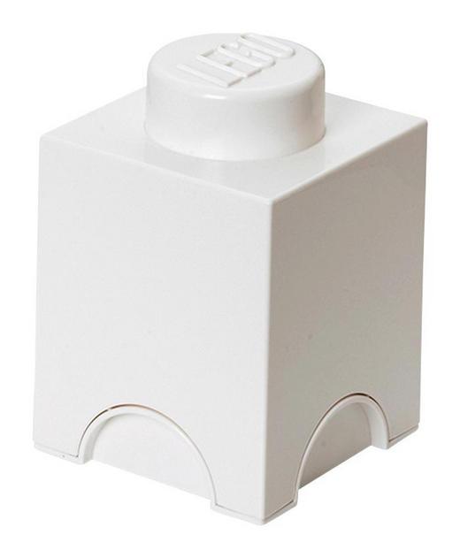 AUFBEWAHRUNGSBOX 12,5/12,5/18 cm - Weiß, Trend, Kunststoff (12,5/12,5/18cm) - Lego