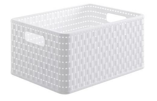KORB - Weiß, Basics, Kunststoff (36.8/27.8/19.1cm)