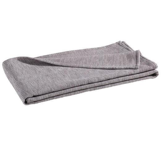 WOHNDECKE 140/200 cm Anthrazit  - Anthrazit, Basics, Textil (140/200cm) - Linea Natura