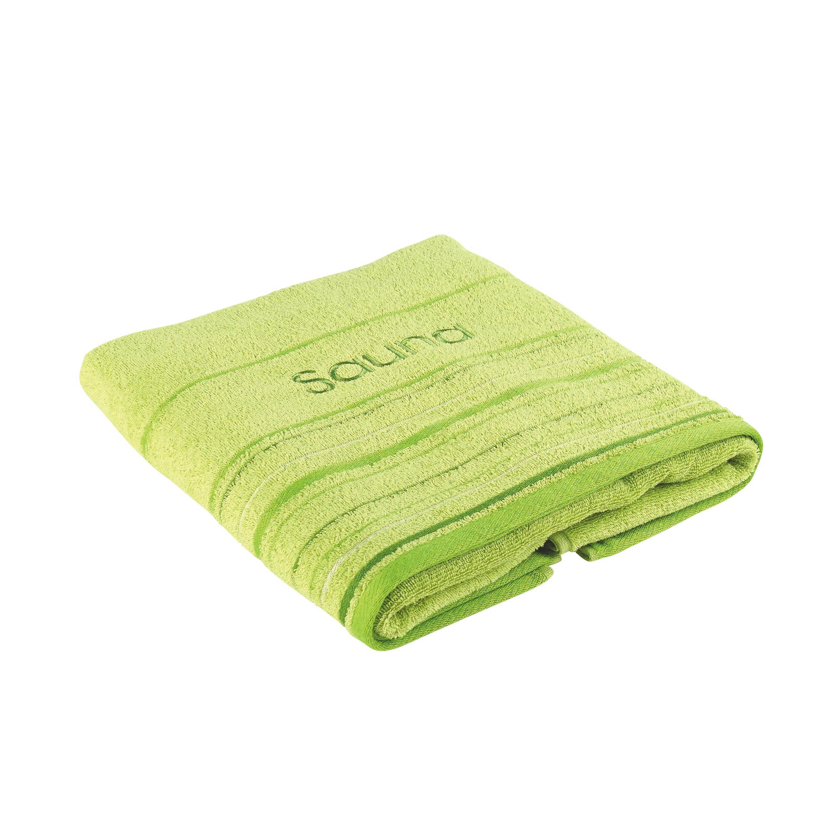 RUČNÍK DO SAUNY - zelená, Basics, textil (70/200cm) - ESPOSA