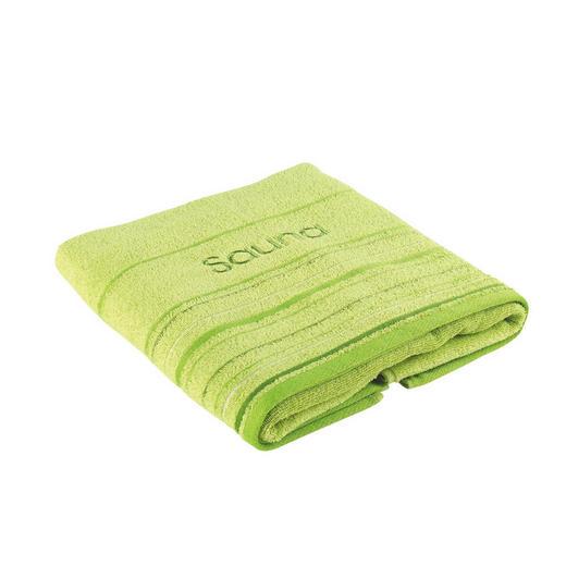 RUČNÍK DO SAUNY - zelená, Konvenční, textil (70/200cm) - ESPOSA