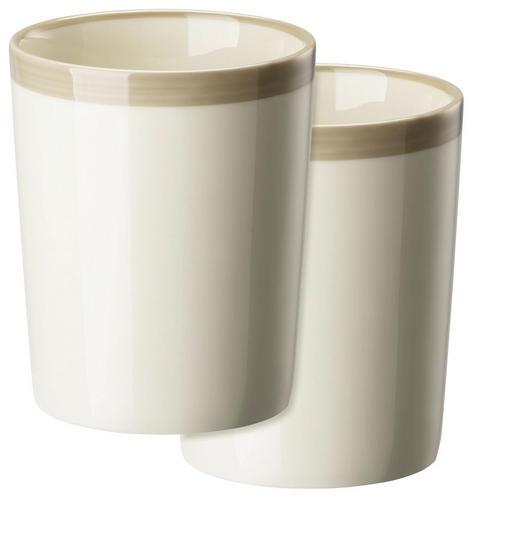 KAFFEEBECHERSET 2-teilig Keramik Porzellan Grau - Grau, Basics, Keramik (0,28l)