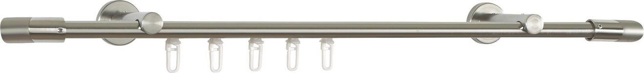 RUNDSTANGENGARNITUR 240 cm  - Edelstahlfarben, Basics, Metall (240cm) - Homeware