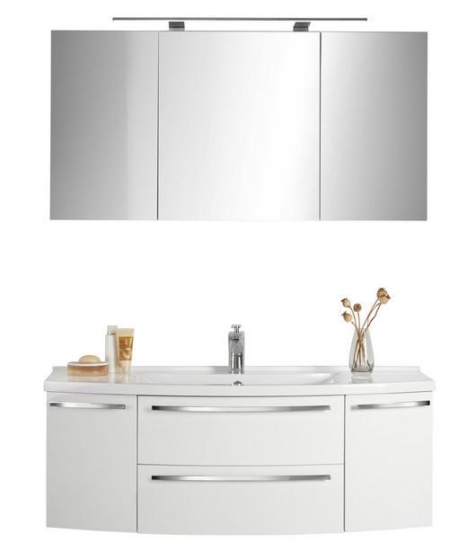 BADEZIMMER Weiß - Weiß, Design, Stein (120cm) - Xora