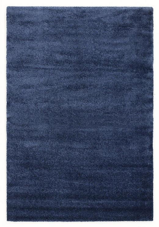 HOCHFLORTEPPICH   gewebt  Blau - Blau, Basics, Textil (65/130/cm) - Novel