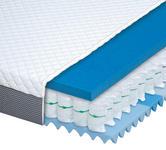 TASCHENFEDERKERNMATRATZE MONA 5000 90/200 cm 21 cm - Anthrazit/Weiß, Basics, Textil (90/200cm) - Dieter Knoll