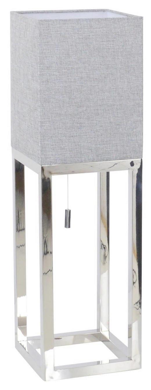 TISCHLEUCHTE - Chromfarben/Grau, Design, Kunststoff/Textil (19/19/65cm)