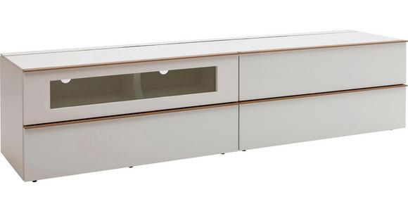 LOWBOARD 227,5/54/56,5 cm - Eichefarben/Weiß, Design, Holz/Holzwerkstoff (227,5/54/56,5cm) - Dieter Knoll