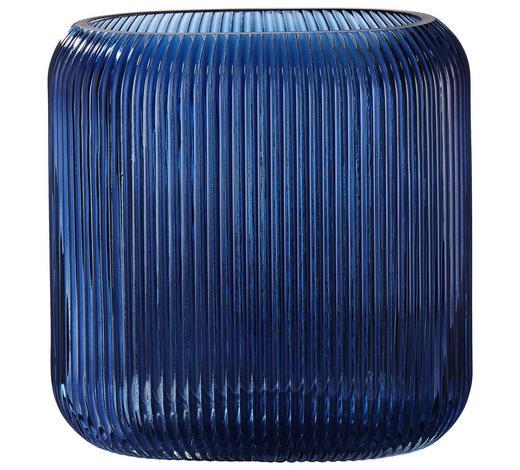 VASE 20 cm  - Blau, Basics, Glas (20cm)