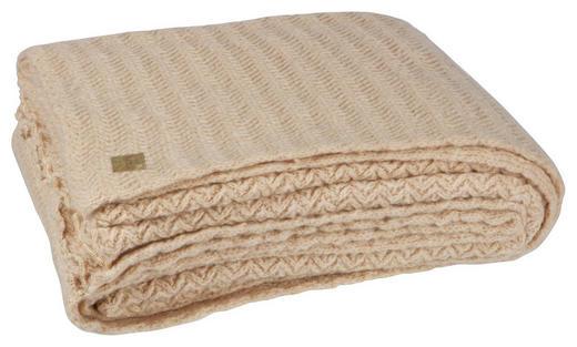 DECKE 170/130 cm Beige - Beige, KONVENTIONELL, Textil (170/130cm) - Carryhome