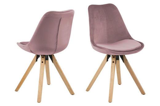 STOLICA - boje hrasta/prljavo ružičasta, Design, drvni materijal/drvo (48,5/85/55cm) - Carryhome