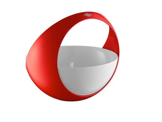 KORB - Rot/Weiß, Basics, Metall (24,6/22,5cm) - Wesco