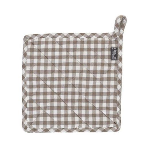TOPFLAPPEN - Beige/Braun, Basics, Textil (22/22cm) - LINUM