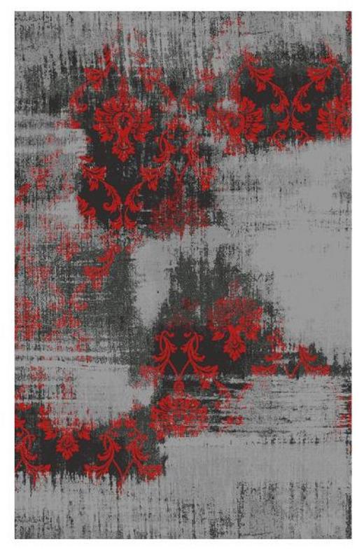 FLACHWEBETEPPICH  120/180 cm  Grau, Rot - Rot/Grau, Basics, Textil (120/180cm) - Novel