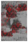 HOCHFLORTEPPICH  70/140 cm   Grau, Rot - Rot/Grau, Basics, Textil (70/140cm) - Novel