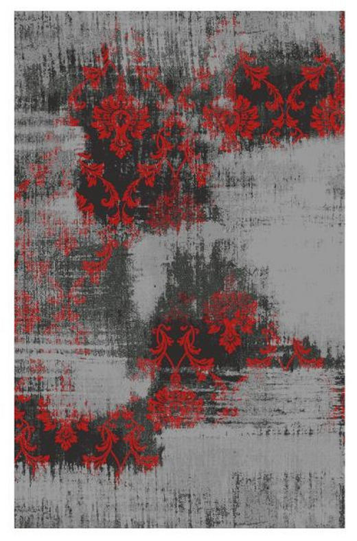 HOCHFLORTEPPICH  90/160 cm   Grau, Rot - Rot/Grau, Basics, Textil (90/160cm) - Novel